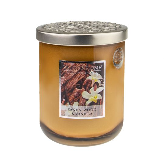 Heart & Home geurkaars in pot (groot) - Sandalwood & Vanilla
