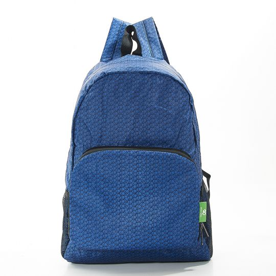 Eco Chic - Backpack - B13NY - Navy Disrupted Cubes