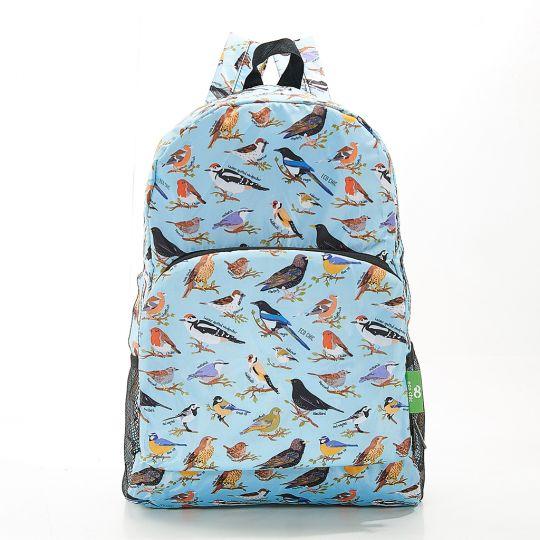 Eco Chic - Backpack - B16BU - Blue Wild Birds
