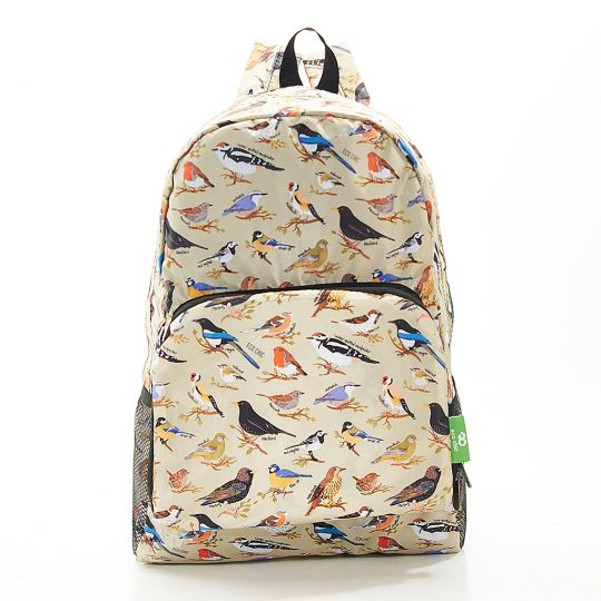 Eco Chic - Backpack - B16GN - Green Wild Birds