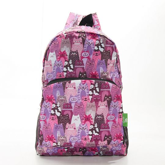 Eco Chic - Backpack - B18PP - Purple Cats
