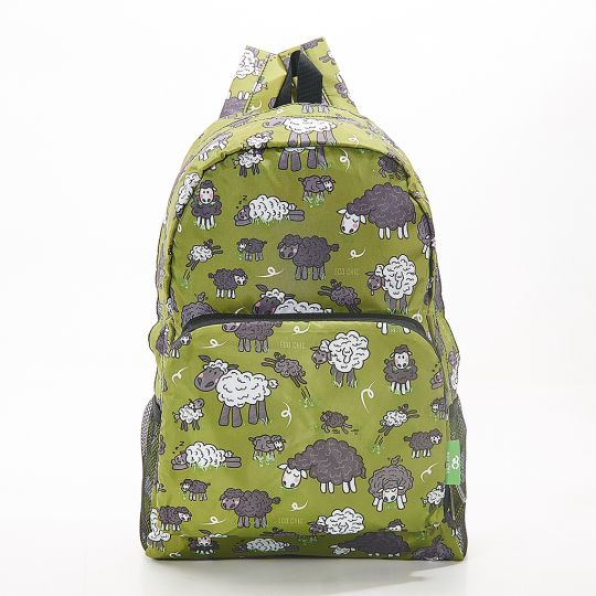Eco Chic - Backpack - B26GN - Green Sheep