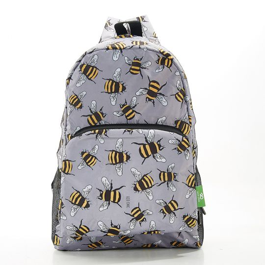 Eco Chic - Backpack - B28GY - Grey Bees