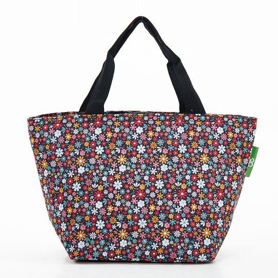 Eco Chic - Cool Lunch Bag - C04BK - Black Ditsy