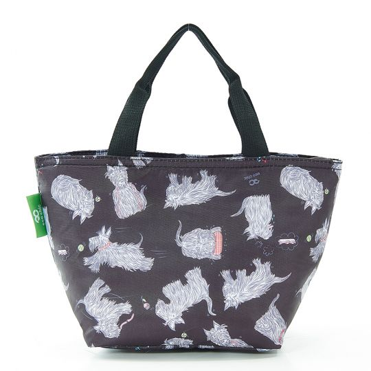 Eco Chic - Cool Lunch Bag - C08BK - Black Scatty Scotty