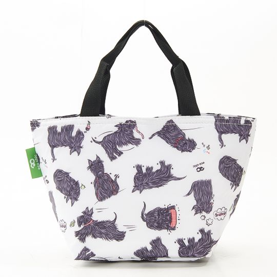 Eco Chic - Cool Lunch Bag - C08WT - White Scatty Scotty