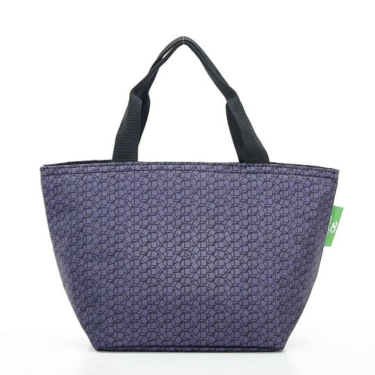Eco Chic - Cool Lunch Bag - C13BK - Black Disrupted Cubes