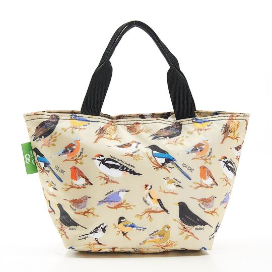 Eco Chic - Cool Lunch Bag - C17GN - Green Wild Birds