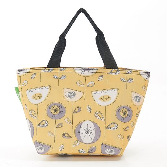 Eco Chic - Cool Lunch Bag - C18MD - Mustard 1950's Flower
