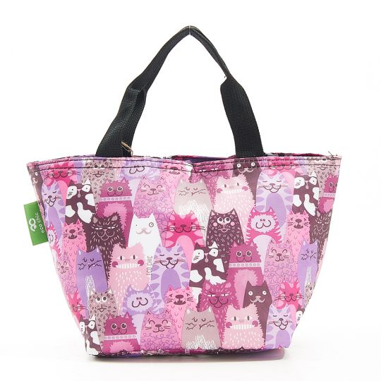 Eco Chic - Cool Lunch Bag - C19PP - Purple Cats
