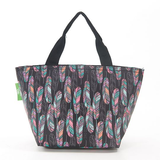 Eco Chic - Cool Lunch Bag - C21BK - Black Feather