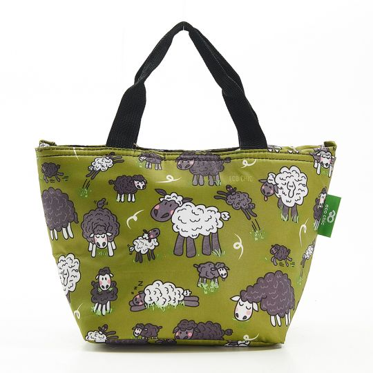 Eco Chic - Cool Lunch Bag - C27GN - Green Sheep