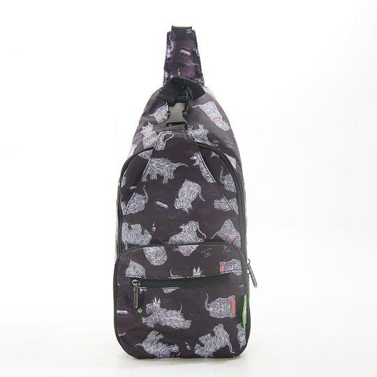 Eco Chic - Cross Body Bag - I03BK - Black Scatty Scotty