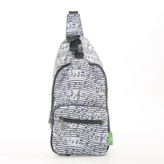 Eco Chic - Cross Body Bag - I04WT - White Music
