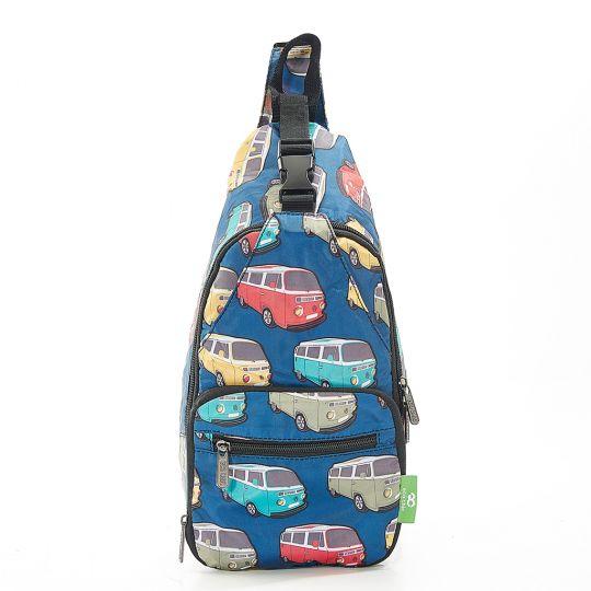 Eco Chic - Cross Body Bag - I11TL - Teal Camper Vans