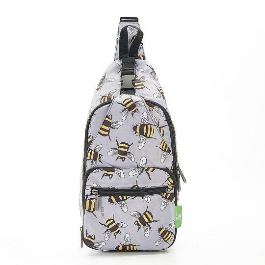 Eco Chic - Cross Body Bag - I13GY - Grey Bees
