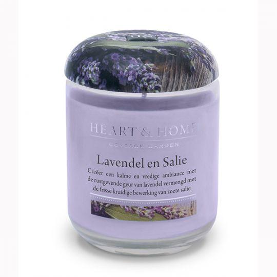 Heart & Home kaars - Lavendel en Salie (large)
