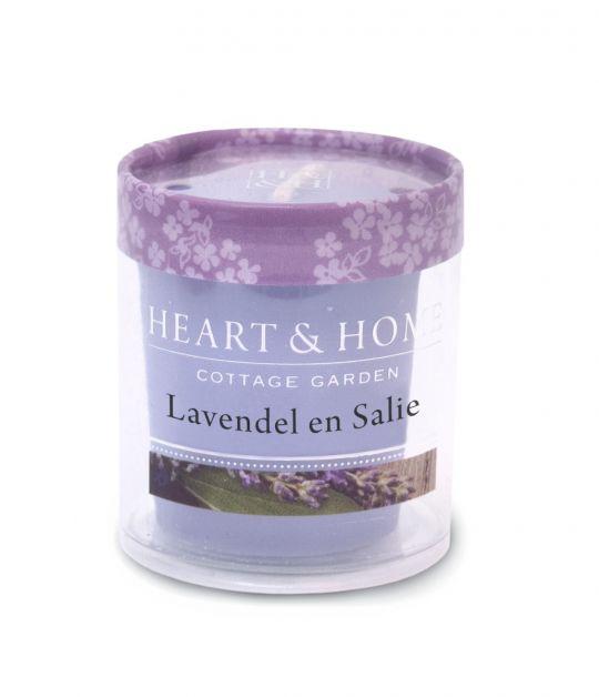 Heart & Home - Votive - Lavendel & Salie