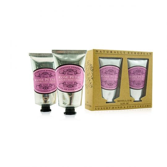 Cadeauset Hand & Foot Cream Rose Petal
