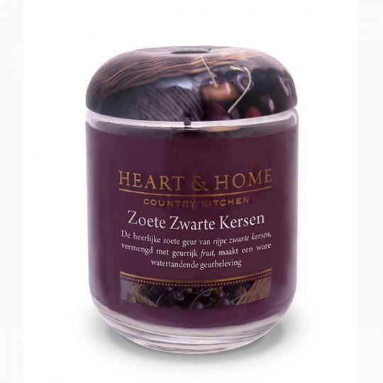 Heart & Home kaars - Zoete Zwarte Kers (groot)