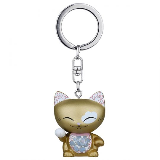 Mani the Lucky Cat - MLCK031 - sleutelhanger - Cat031 Gold (Mani the Cat)