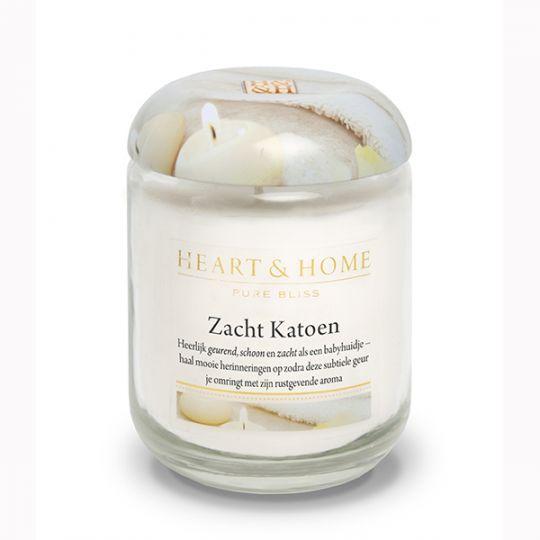 Heart & Home kaars - Zacht Katoen (groot)