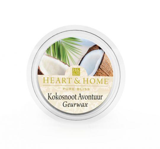 Heart & Home - Geurwax - Kokosnoot Avontuur