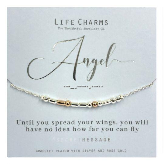 Life Charms - SM01 - armband Secret Message - Angel