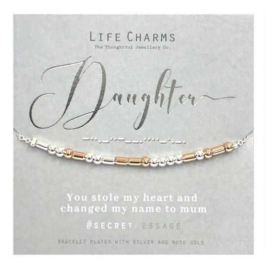 Life Charms - SM05 - armband Secret Message - Daughter