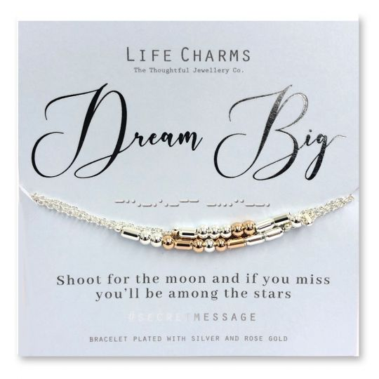 Life Charms - SM06 - armband Secret Message - Dream Big