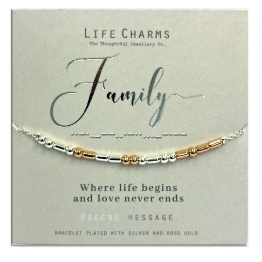 Life Charms - SM07 - armband Secret Message - Family