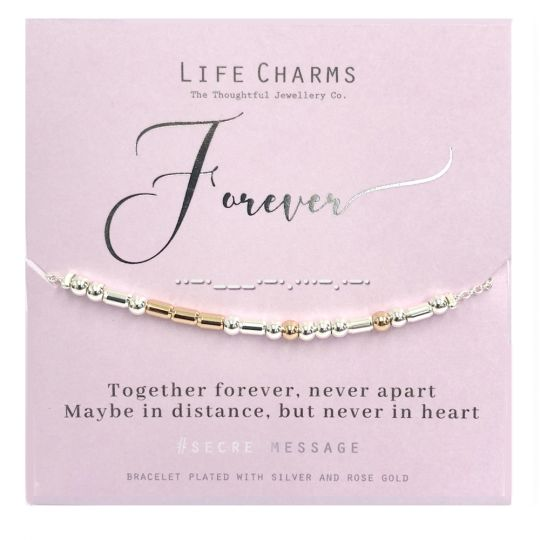 Life Charms - SM08 - armband Secret Message - Forever