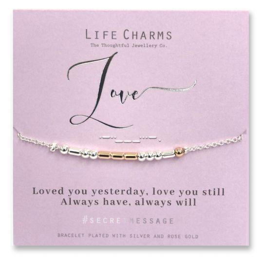 Life Charms - SM11- armband Secret Message - Love