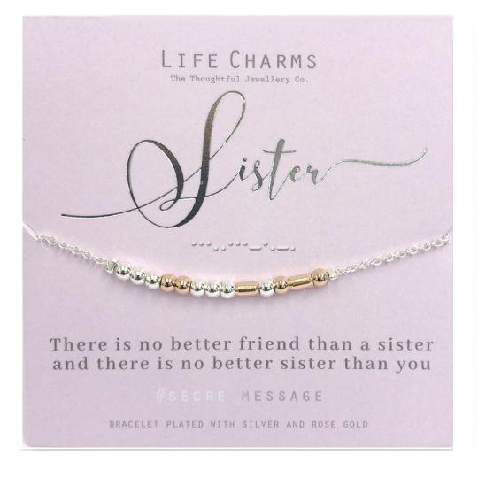 Life Charms - SM13- armband Secret Message - Sister