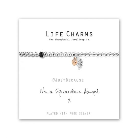 480201 - Life Charms - LC001BW - Just because - Guardian Angel