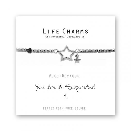 480203 - Life Charms - LC003BW - Just because - Superstar