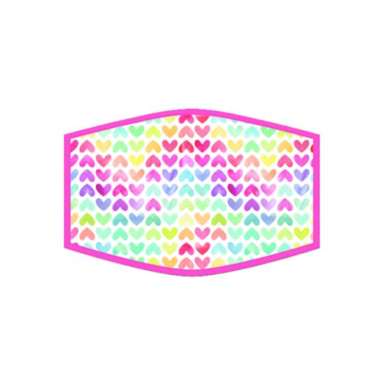 Mondkapje - Hearts Rainbow