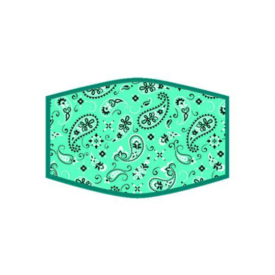 Mondkapje - Turquoise Bandana
