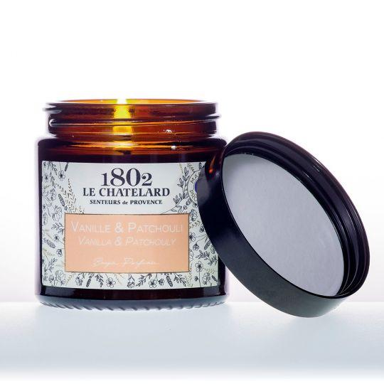 LC1802 - Candle Scented - BAUT-115 - Vanilla-Patchouli - 80 gram