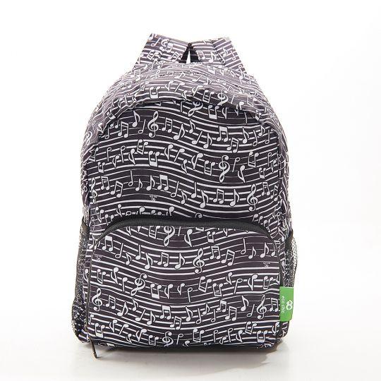 Eco Chic - Mini Backpack - G04BK - Black - Music