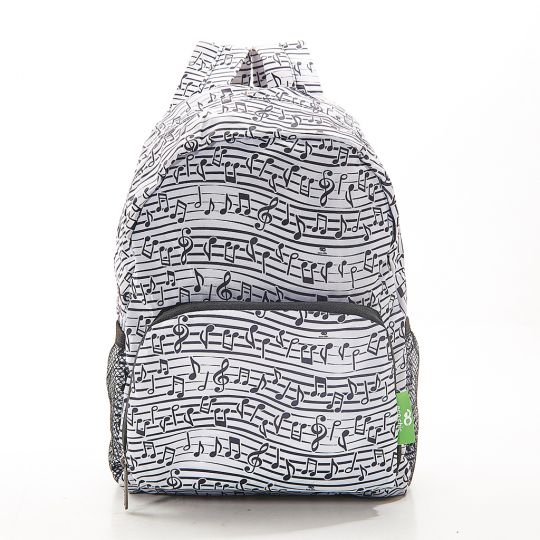 Eco Chic - Mini Backpack - G04WT - White - Music
