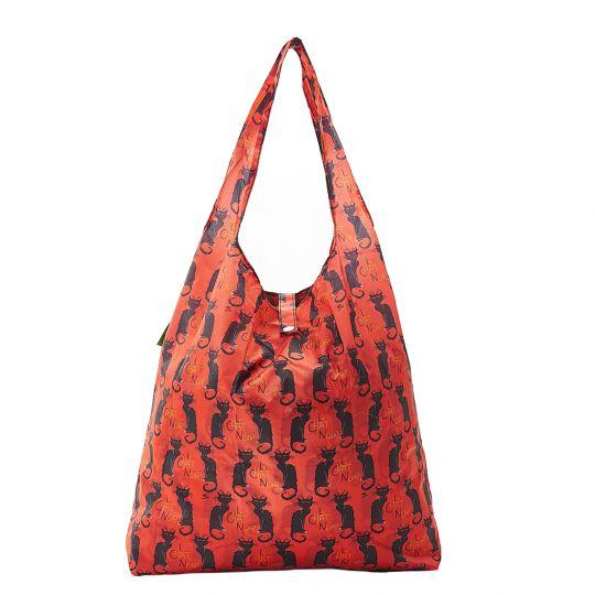 Eco Chic - Foldaway Shopper - A03BY - Burgundy - Le Chat Noir