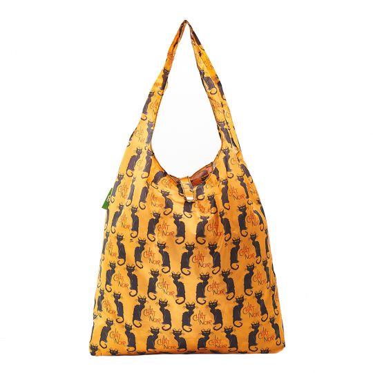 Eco Chic - Foldaway Shopper - A03MD -  Mustard - Le Chat Noir