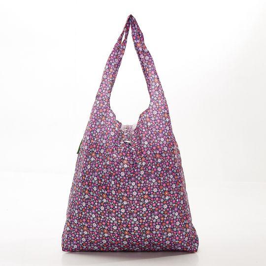 Eco Chic - Foldaway Shopper - A04PP - Purple - Ditsy spikkels