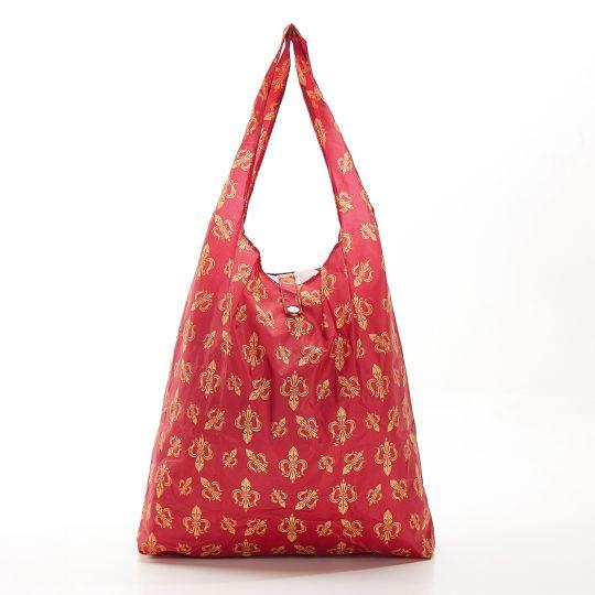 Eco Chic - Foldaway Shopper - A05RD - Red - Fleur de Lys