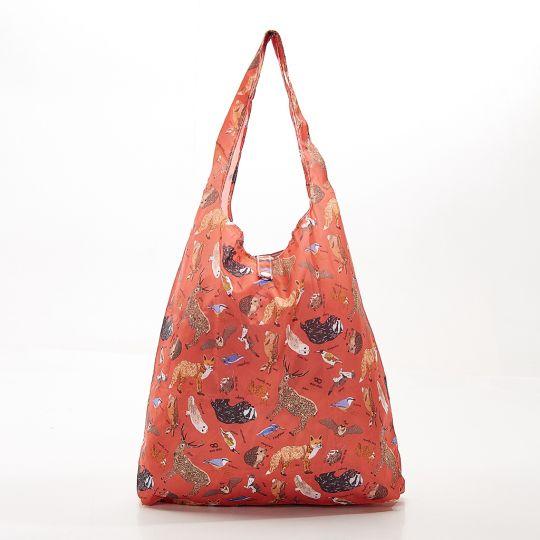Eco Chic - Foldaway Shopper - A06RD - Red - Woodland