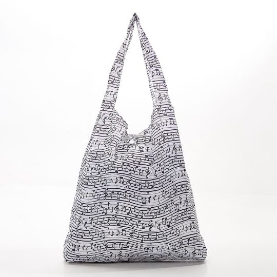 Eco Chic - Foldaway Shopper - A10WT - White - Music