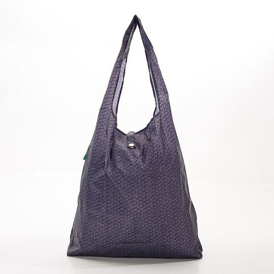 Eco Chic - Foldaway Shopper - A13BK - Black - Disrupted Cubes
