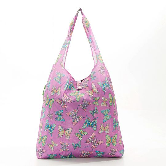 Eco Chic - Foldaway Shopper - A15LC - Lilac - Butterfly