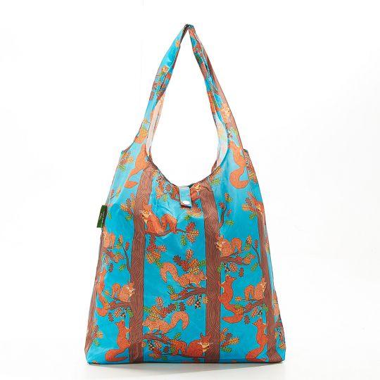 Eco Chic - Foldaway Shopper - A21BU - Blue - Squirrel
